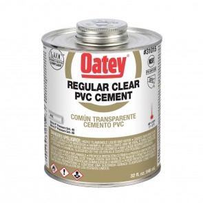 Oatey Regular Clear PVC Cement - 32 oz. (31015)