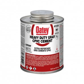 Oatey Heavy Duty Gray CPVC Cement - 16 oz. (31036)
