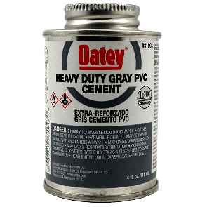 Oatey - Heavy Duty Gray Cement - 4ozᅠ(31093)