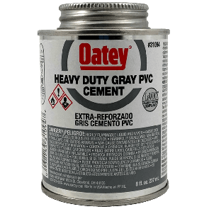 Oatey - Heavy Duty Gray Cement - 8oz (31094)