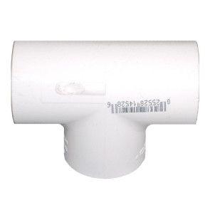 "10"" Schedule 40 Fabricated PVC Tee Socket 401-100F"