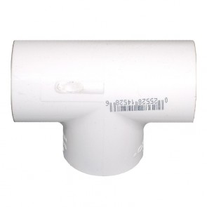 "16"" Schedule 40 Fabricated PVC Tee - Socket x Socket x Socket (401-160F)"