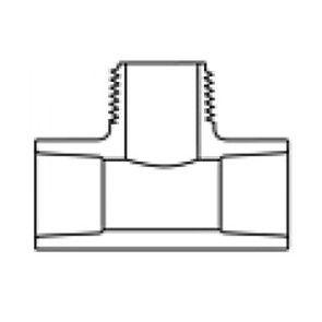 """1"""" Sch 40 PVC Tee Soc x Mipt 402B-010"""
