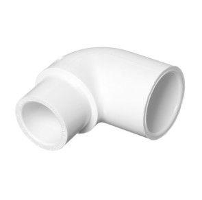 "1-1/2"" x 1"" Sch 40 PVC Reducing 90 Elbow Soc 406-211"