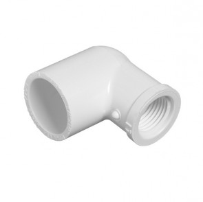 "3/8"" x 1/2"" Sch 40 PVC Reducing 90 Elbow - Soc x Fipt 407-053"