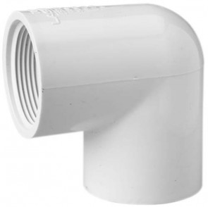 "2"" Sch 40 PVC 90 Elbow - Soc x Fipt 407-020"