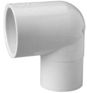 "5"" Sch 40 PVC 90 Street Elbow - Spig x Soc 409-050"