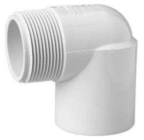 "1/2"" Sch 40 PVC 90 Street Elbow - Mipt x Soc 410-005"