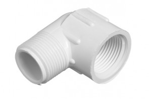 "1"" Sch 40 PVC 90 Street Elbow - Mipt x Fipt 412-010"