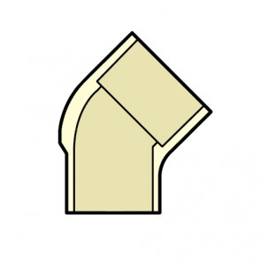 "1"" CTS CPVC 45 Degree Street Elbow 4127-010"
