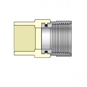 "1/2"" CTS CPVC Female Adapter with Stainless Steel Thread Transition 4135-005SS"