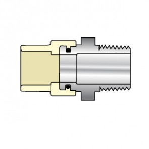 "4136-010SS 1"" CTS CPVC Male Adapter Transition with Stainless Steel Thread"