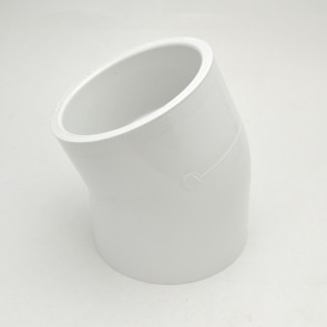 "4"" schedule 40 pvc 22-1/2 elbow fitting"