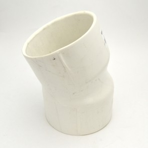 "5"" schedule 40 pvc elbow fitting 22-1/2"