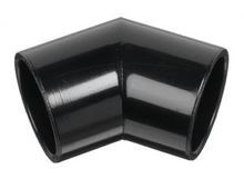 "1-1/2"" Black Sch 40 PVC 45 Elbow - Socket (417-015B)"