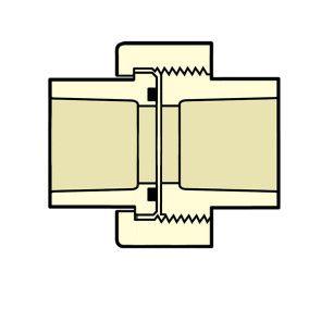 """1-1/4"""" CTS CPVC Union 4197-012"""