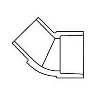 "1/2"" Sch 40 PVC 45 Street Elbow - Spig x Soc 427-005"