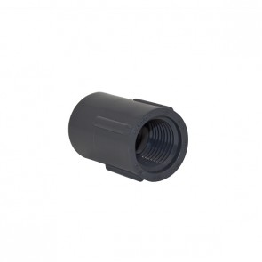 "1/2"" Schedule 40 Gray Coupling FPT x FPT"