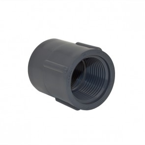 """3/4"""" Schedule 40 Gray Coupling FPT x FPT"""
