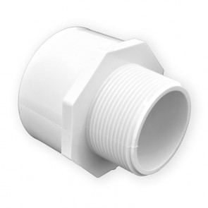 "2-1/2"" x 3"" Schedule 40 Reducing Male Adapter MPT x Slip (436-293)"