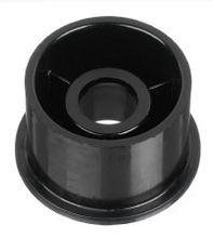 """2"""" x 3/4"""" Black Sch 40 PVC Reducer Bushing - Spig x Socket (437-248B)"""