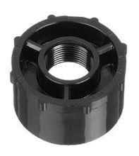 """2"""" x 1-1/2"""" Black Sch 40 PVC Reducer Bushing - Spig x FIPT (438-251B)"""