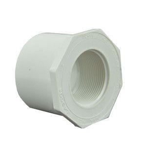 "2-1/2"" x 1-1/2"" Sch 40 PVC Reducer Bushing Flush Style"