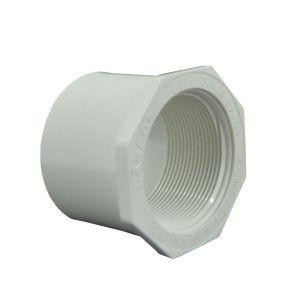 "2-1/2"" x 2"" Sch 40 PVC Reducer Bushing Flush Style"