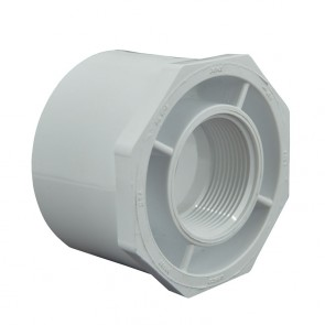 "3"" x 1-1/2"" Sch 40 PVC Reducer Bushing Flush Style"