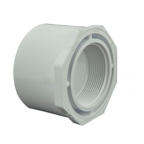 "3"" x 2"" Sch 40 PVC Reducer Bushing Flush Style"