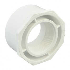 "4"" x 2-1/2"" Sch 40 PVC Reducer Bushing Flush Style"