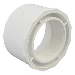 "6"" x 4"" Sch 40 PVC Reducer Bushing Flush Style"