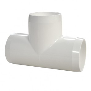 "1-1/4"" PVC Tee - Furniture Grade"