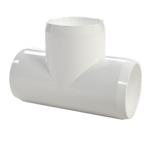 "1-1/2"" PVC Tee - Furniture Grade"