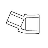 "8"" Sch 40 PVC 22-1/2 Street Elbow - Spig x Soc 442-080"