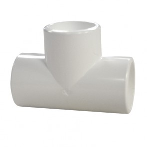 "3/4"" PVC Tee - Furniture Grade"