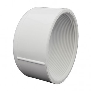 "4"" Sch 40 PVC Cap - FPT Threaded 448-040"