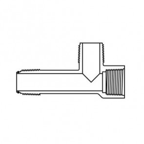 "1"" Sch 40 PVC O-ring Sealed Manifold Tee - 451A-010"