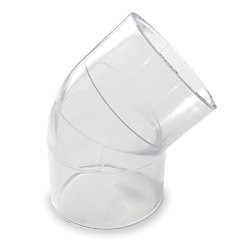 "1/2"" Clear PVC 45 Elbow 417-005L"
