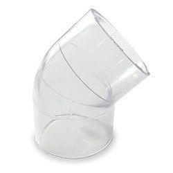 "3/8"" Clear PVC 45 Elbow 417-003L"