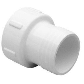 "1/2"" Sch 40 PVC Insert Adapter (White PVC) - Insert x Soc 474-005"