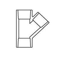 """8"""" Sch 40 PVC Wye Soc 475-080"""