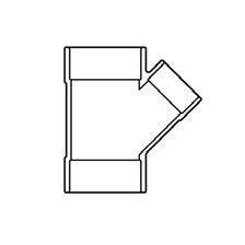 """18"""" x 4"""" Sch 40 PVC Reducing Wye Soc 475-784F"""