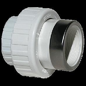 """1"""" PVC Sch 40 Socket x SR Female Union w/EPDM O-ring (499-010SR)"""