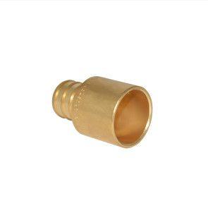 "3/4"" PEX Barb x 3/4"" Female Sweat Adapter - Brass"