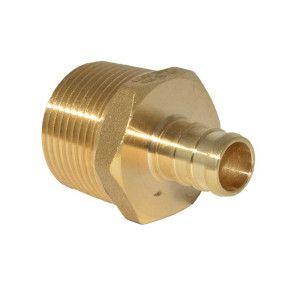 """1/2"""" PEX Barb x 3/4"""" MPT Adapter - Brass"""