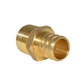 """3/4"""" PEX Barb x 1/2"""" MPT Adapter - Brass"""