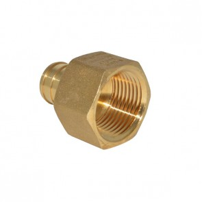 """3/4"""" PEX Barb x 3/4"""" FPT Adapter - Brass"""