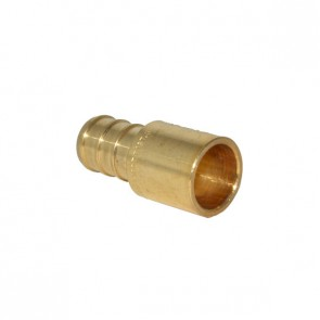 "1/2"" PEX Barb x 1/2"" Male Sweat Adapter - Brass"