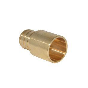 "3/4"" PEX Barb x 3/4"" Male Sweat Adapter - Brass"
